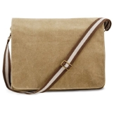 Shirtstown Umhängetasche Herren Vintage Canvas Despatch Bag, Sahara