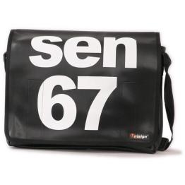 Unisign Umhängetasche Herren / Laptop Tasche, schwarz