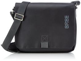 BREE Punch 61, black, shoulder bag 83900061 Unisex-Erwachsene Schultertaschen 26x6x21 cm (B x H x T), Schwarz (black 900) - 1