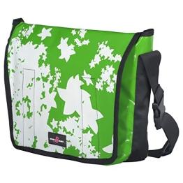 Sturm & Drang Umhängetasche aus LKW-Plane, Blumen grün