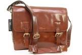 """Umhängetasche / für Laptop geeignete Tasche """"Jasper"""" von Ashwood - Kastanie Braun - GRÖßE: B: 37 cm, H: 28 cm, T: 10,5 cm - 1"""