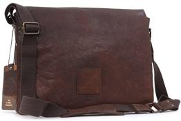 """Umhängetasche / für Laptop geeignete Tasche """"Pedro"""" von Ashwood - Dunkelbraun - GRÖßE: B: 39 H: 28 T: 10 cm - 1"""