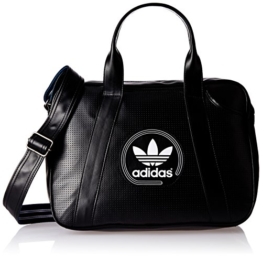 adidas Umhängetasche Perforated Airliner, Black/White, 12 x 38 x 28 cm, 12 Liter, AJ8383 -