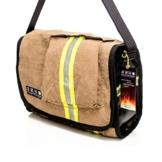 hupfbags® Modell Florian L gold. Die Taschen die für dich durchs Feuer gegangen sind. Jede Tasche ein Unikat !! -
