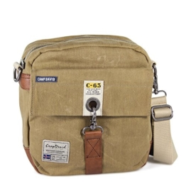 CAMP DAVID Old Harbour Canvas Cross Bag Umhängetasche gewachst sand beige -